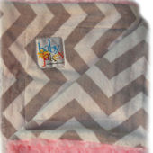 Baby Jakes Chevron Pink And Gray Blanket
