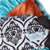 Baby Jakes Ruffled Crown Couture Turquoise Blanket