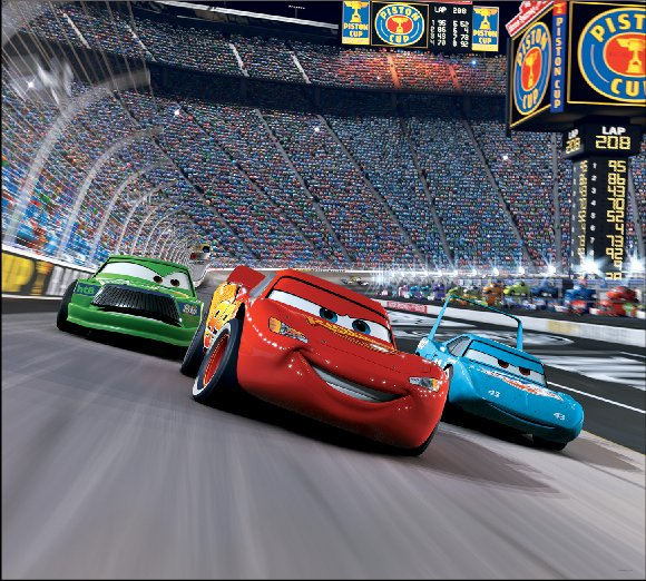 Cars The Movie: Cars Race Track Self Stick Mini Wall Mural
