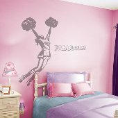 Cheerleader - Sudden Shadows Wall Decals