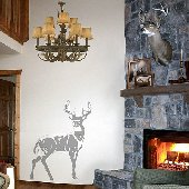 Deer - Sudden Shadows Wall Decals