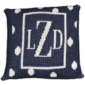 Personalized Large Dot Custom Pillow