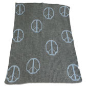 Floating Peace Sign Blanket