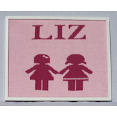 Personalized Paperdolls  Wall Art