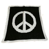 Large Peace Sign Blanket