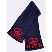 Personalized Peace Sign Scarf