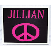 Personalized Peace Sign  Wall Art