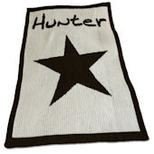 Personalized Stroller  Blanket  with Star and Name