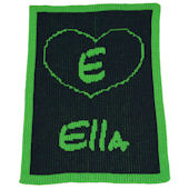 Personalized Stroller  Blanket  with Heart