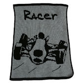 Personalized Stroller Blanket  with Racecar