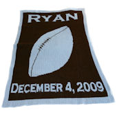 Personalized Football Blanket with Name Birthdate