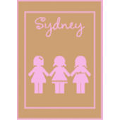 Personalized Stroller  Blanket  with Paperdolls