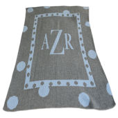 Personalized Large Polka Dot Blanket