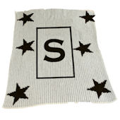 Personalized Stroller  Blanket  Star and Initial