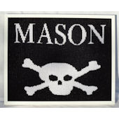 Personalized Skull and Crossbones  Wall Art