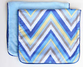 Ikat Blue Chevron Burp Set