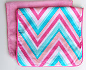 Ikat Pink Chevron Burp Set