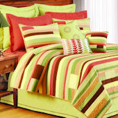 Harmony Dream Striped Quilted Bedding