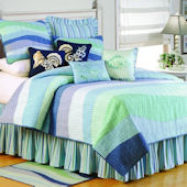 Ocean Waves Quilted Bedding
