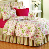 Pink Brianna Floral Quilted Bedding