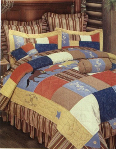 Wild Horses Quilted Bedding