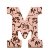 Chocolate Sorbet Glitter Dusted Wooden Wall Letter