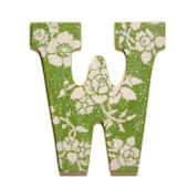 Floral Glitter Dusted Wooden Wall Letter