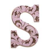 Lilac Glitter Dusted Wooden Wall Letter