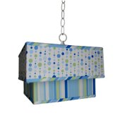 Caden Lane Blue Dot Line Ceiling Pendant