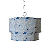Caden Lane Light Blue Swirl Ceiling Pendant