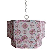Caden Lane Small Pink Moroccan Ceiling Pendant