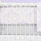 Caden Lane Sweet Lace Damask Lavander Crib Bumper