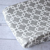 Caden Lane Bright Baby Gray Changing Pad Cover