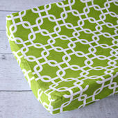 Caden Lane Bright Baby Green Changing Pad Cover