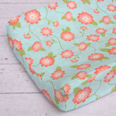 Caden Lane Coral Floral Changing Pad Cover
