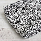 Caden Lane Girly Aqua Leopard Changing Pad Cover
