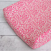 Caden Lane Girly Pink Leopard Changing Pad Cover