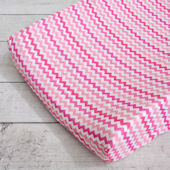 Caden Lane Girly Zig Zag Changing Pad Cover