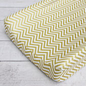 Caden Lane Gold Chevron Changing Pad Cover
