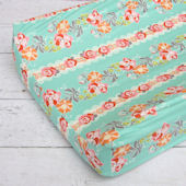 Caden Lane Lovely Coral Lace Changing Pad Cover