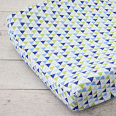 Caden Lane Preppy Boy Navy Changing Pad Cover