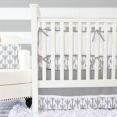 Caden Lane Arrow Gray White Cribset