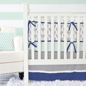 Caden Lane Arrow Gray Navy Cribset