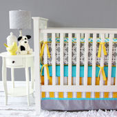 Caden Lane Bright Baby Gray Crib Set
