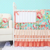 Caden Lane Coral Camilla Crib Set