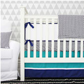 Caden Lane Deco Navy Cribset