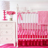 Caden Lane Girly Pink Leopard Crib Set