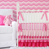 Caden Lane Girly Zig Zag Crib Set