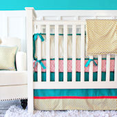 Caden Lane Gold Chevron Crib Set