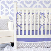 Caden Lane Mod Lavender And Gray Cribset